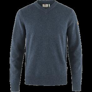 Sweter wełniany męski Fjallraven Övik V-neck Sweater